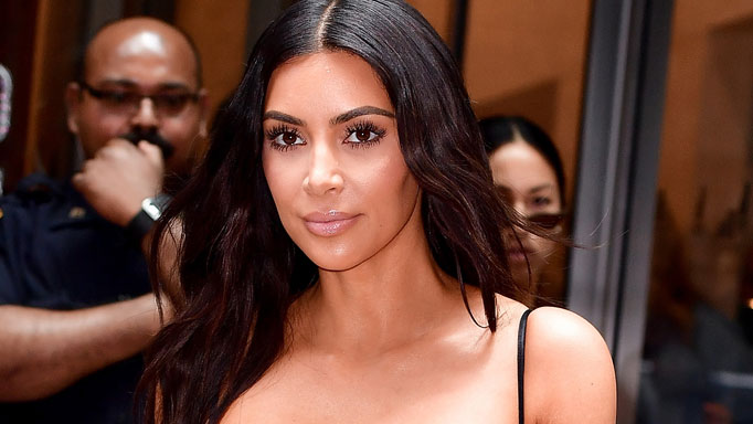 Kim Kardashian West Tops Off a Transparent Bra with a Blazer