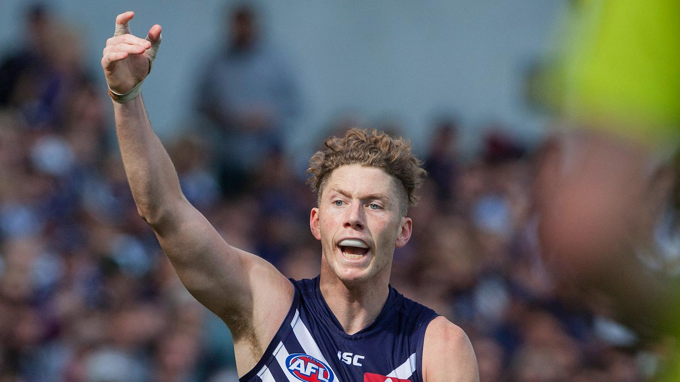 Zac Dawson of the Fremantle Dockers