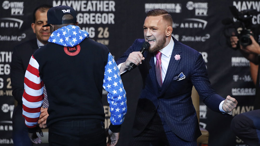 McGregor sparks outrage by racially taunting Floyd Mayweather at LA press conference