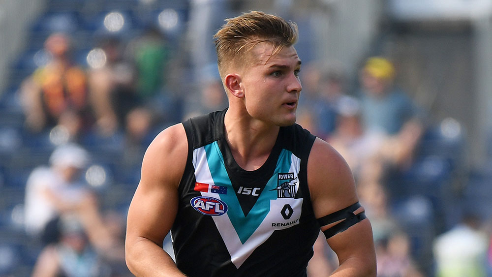 Ollie Wines of Port Adelaide Power