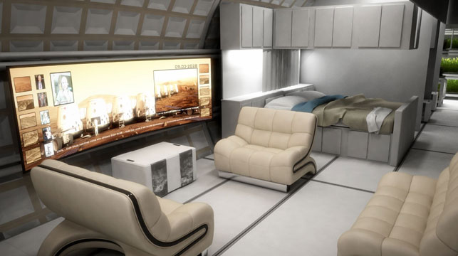 One of the concept habitat designs of the Mars One program. (Mars One)