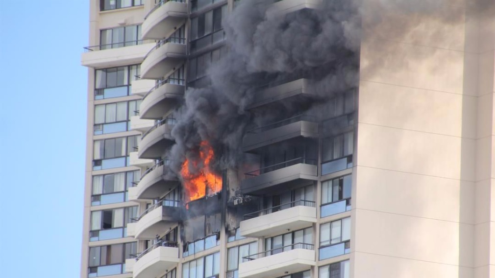 The fire broke out on the 26th floor. (Hawaii News Now‏)