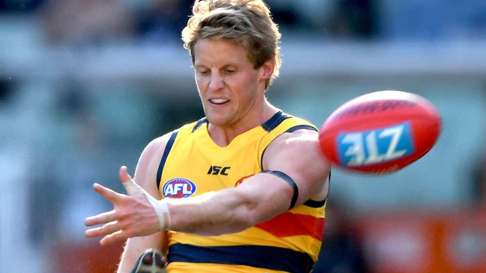 Adelaide player Rory Sloane was knocked out during his team's win over Melbourne. (AAP)