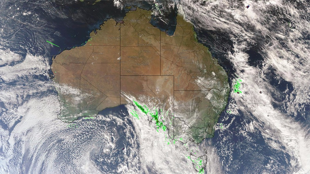 The picturesque conditions were thanks to a band of cloud moving east this morning. (Bureau of Meteorology)