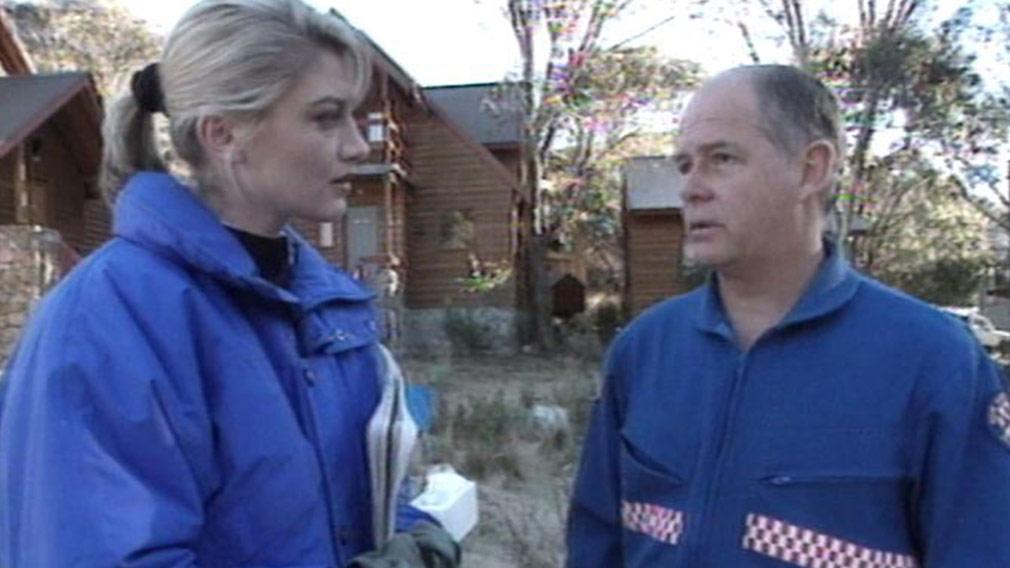 60 Minutes Tara Brown reporting on the landslide in 1997. (60 Minutes)