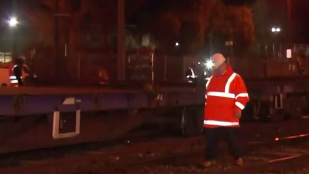 The train derailed at Lilydale about 2.30am. (9NEWS)