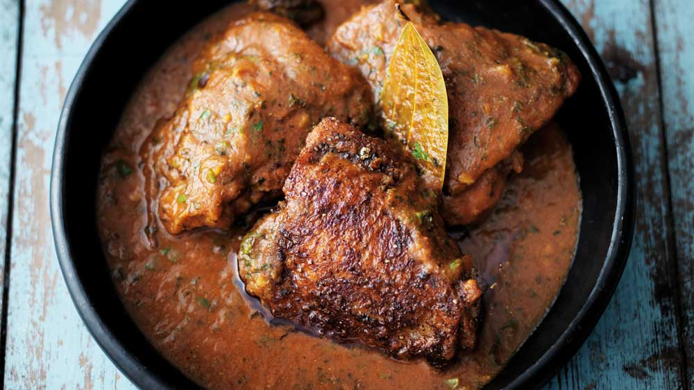 Fenugreek chicken curry