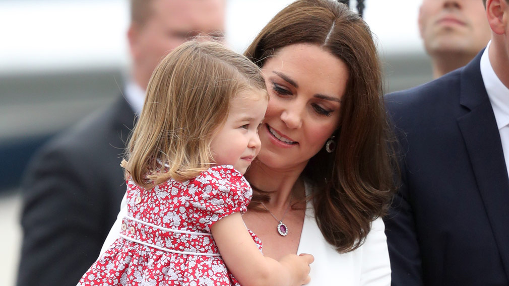 Princess Kate and Princess Charlotte. (AAP)