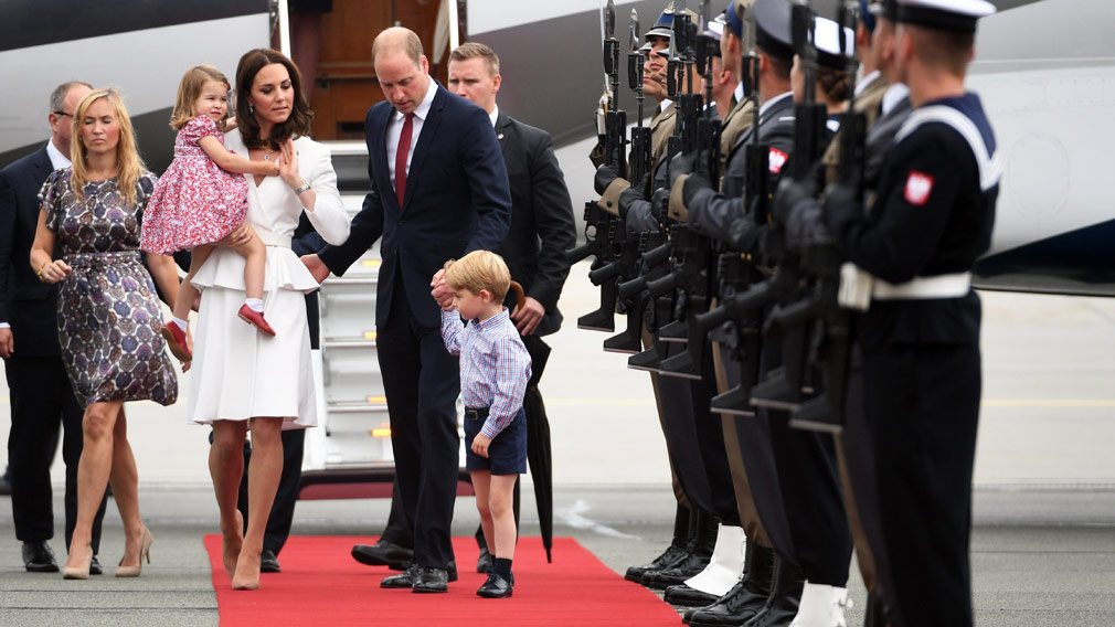 The British royals arrive in Poland. (AAP)