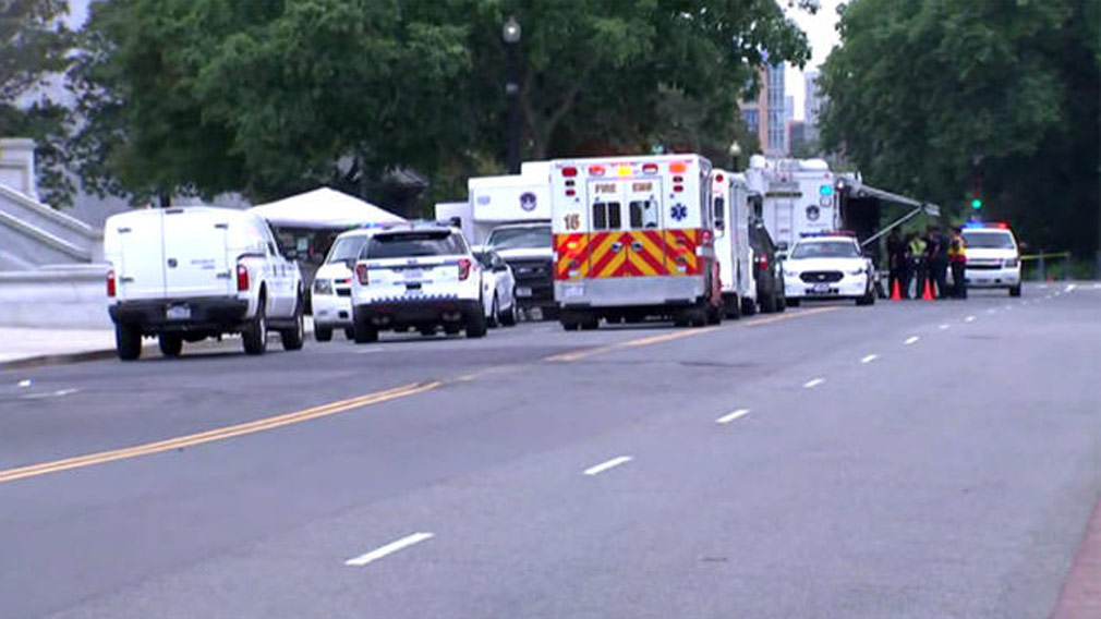 Police officer mown down by 'suspicious vehicle' close to White House