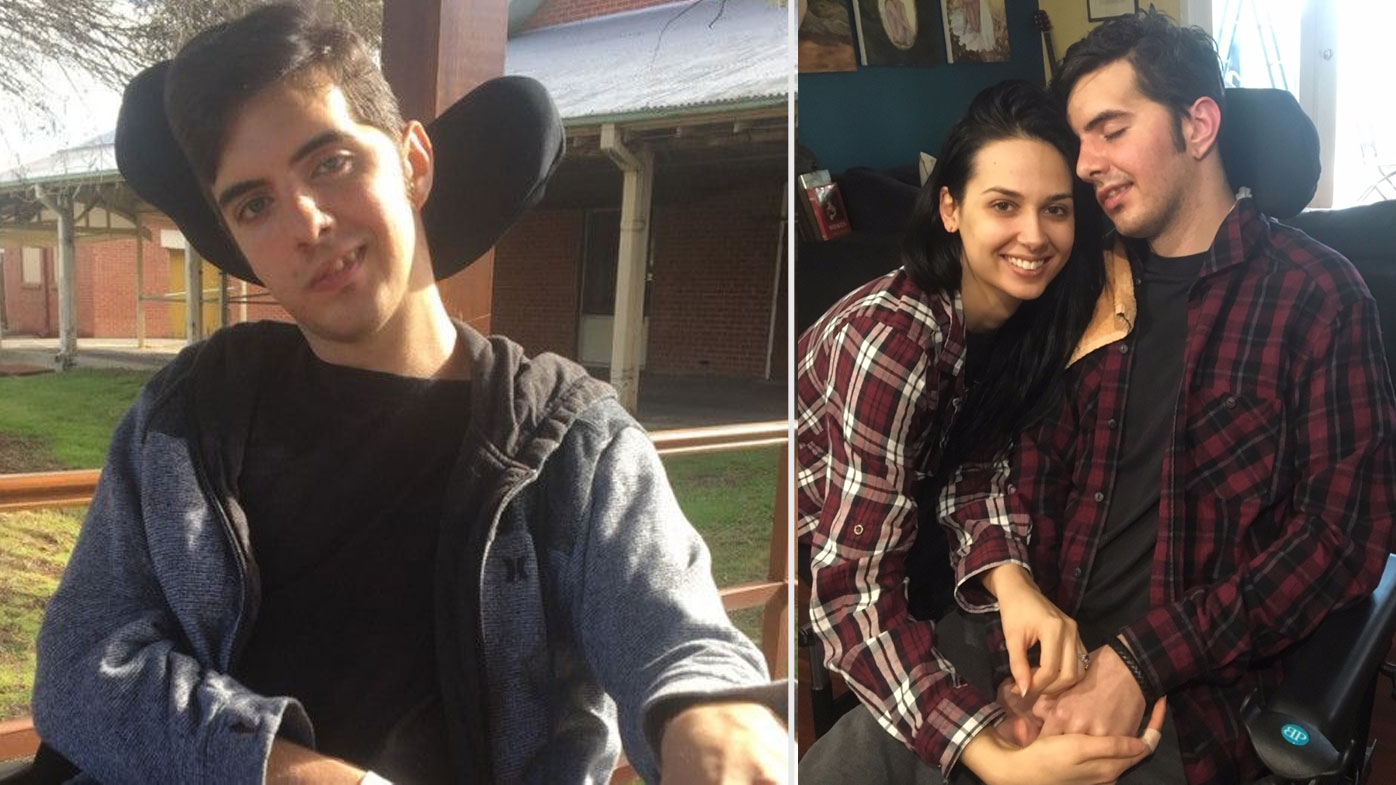 Man proposes to girlfriend who stood by after brain trauma