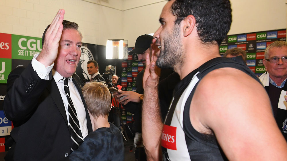 Collingwood Magpies president Eddie McGuire isn't going anywhere. (AAP)