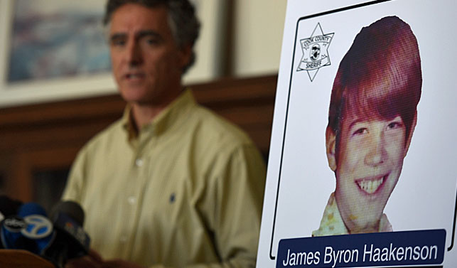 Cook County Sheriff Tom Dart speaks at a news conference in Chicago, yesterday where he revealed the identity of James Byron Haakenson, of Minnesota, as one of the victims of serial killer John Wayne Gacy .(Photo: AP).