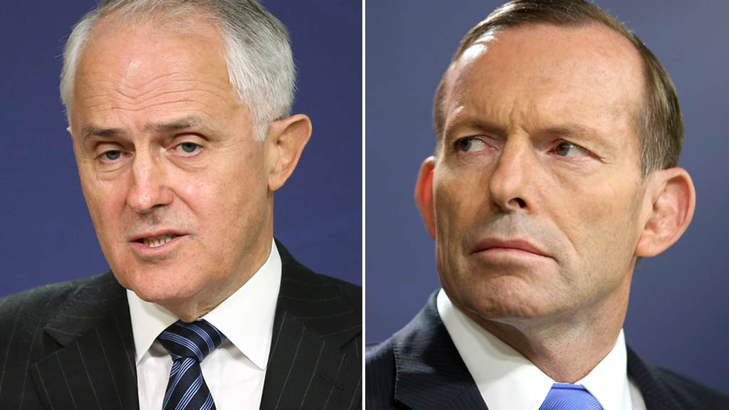 Turnbull, Abbott talk down bitterness as they endorse Liberal reform