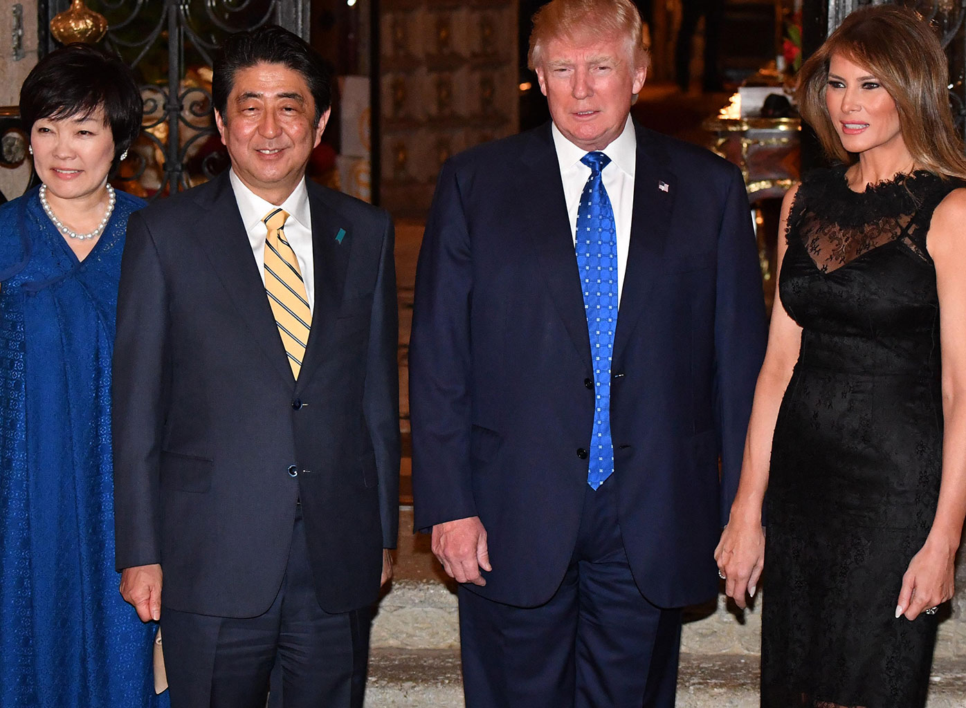 Trump falsely claims Japanese first lady doesn't speak English