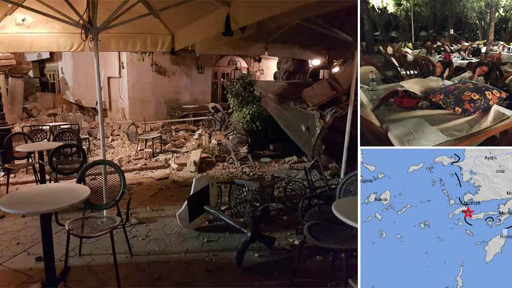 Two dead after magnitude 6.7 quake shakes Greek island