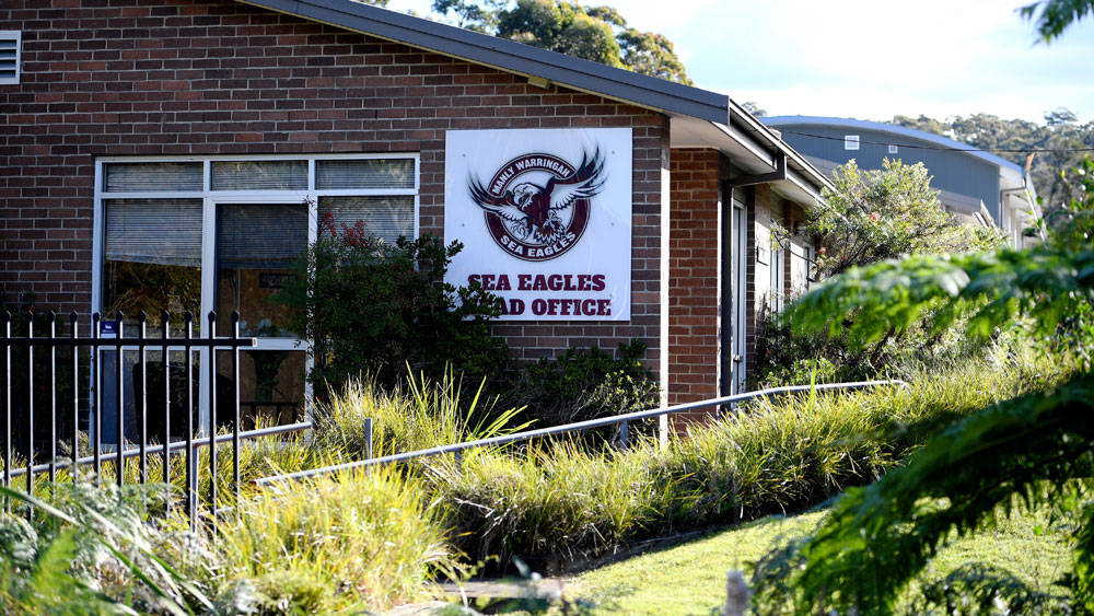 There are claims Manly Sea Eagles officials refused to hand over laptops to NRL investigators. (AAP)