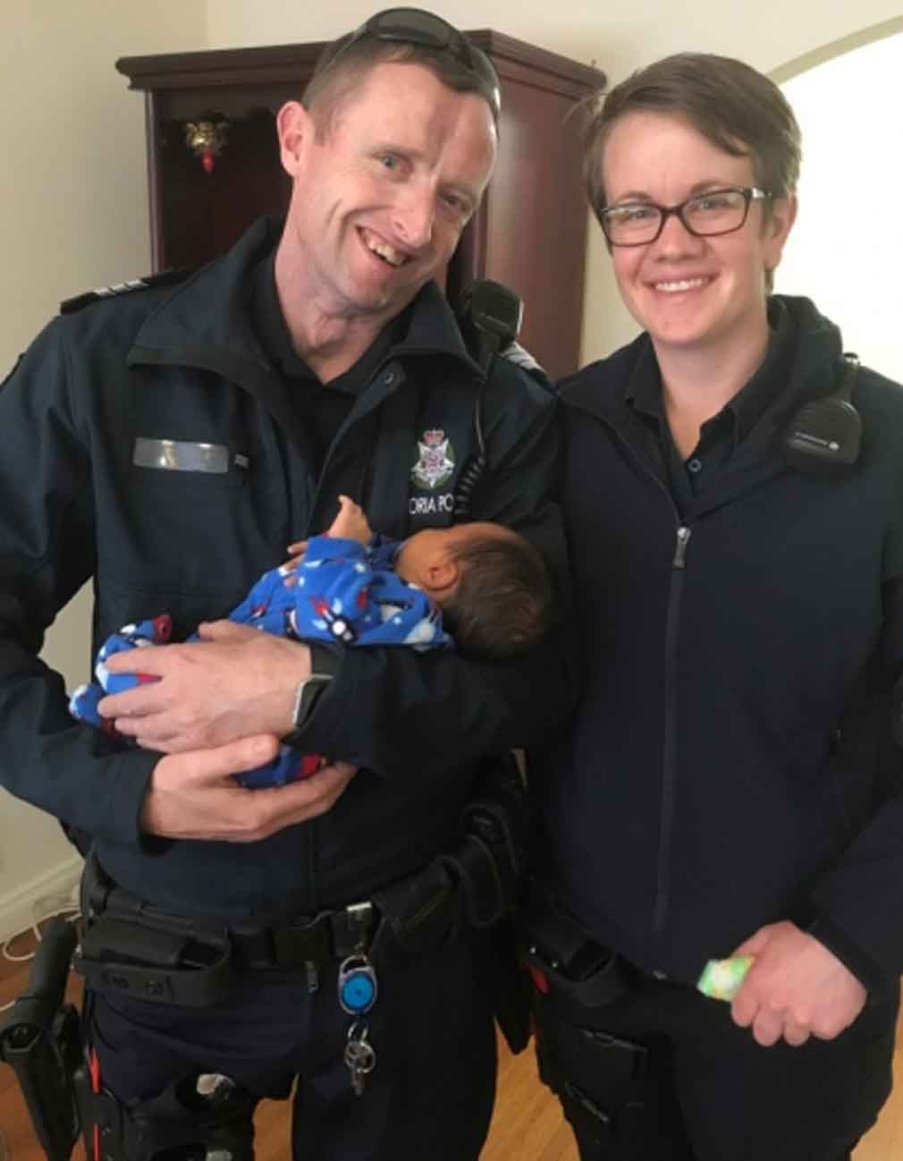 Police officers help save four-week-old baby who stopped breathing
