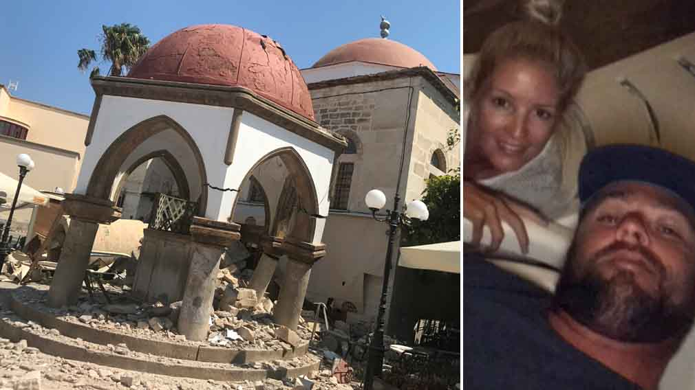 Aussie couple's Greek honeymoon rocked by earthquake