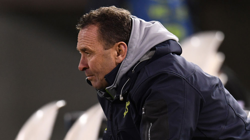 Canberra Raiders coach Ricky Stuart as livid with the officiating in his side's loss to the Storm. (AAP)