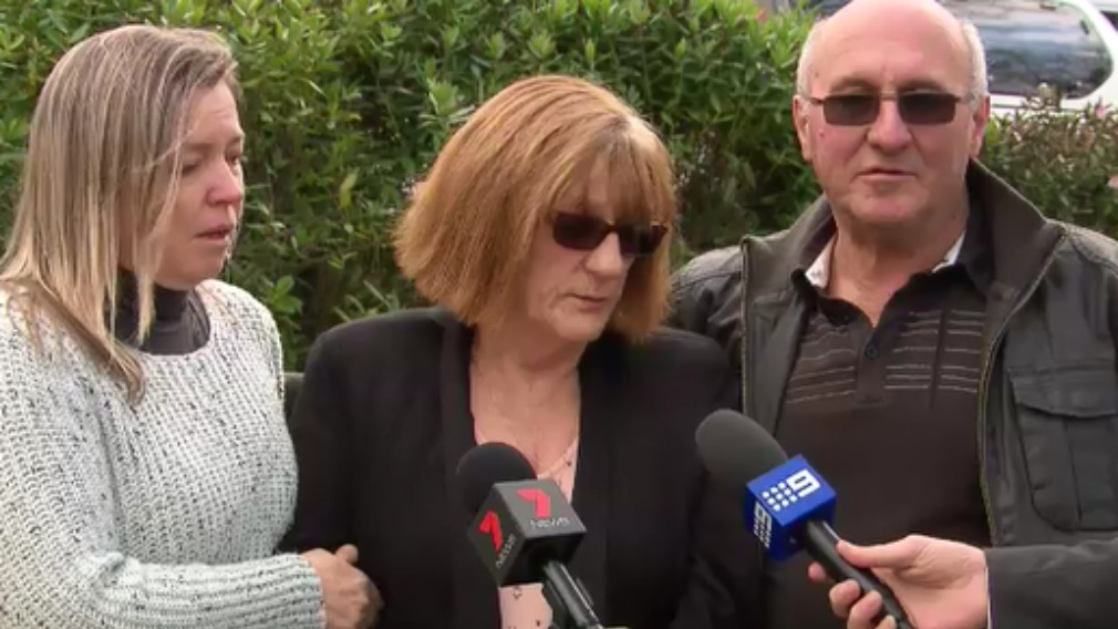 Jodie's aunty (Tracey Grice), mother (Lesley Brown) and father (Michael Binks) pleaded for the teen to come home. (9NEWS)