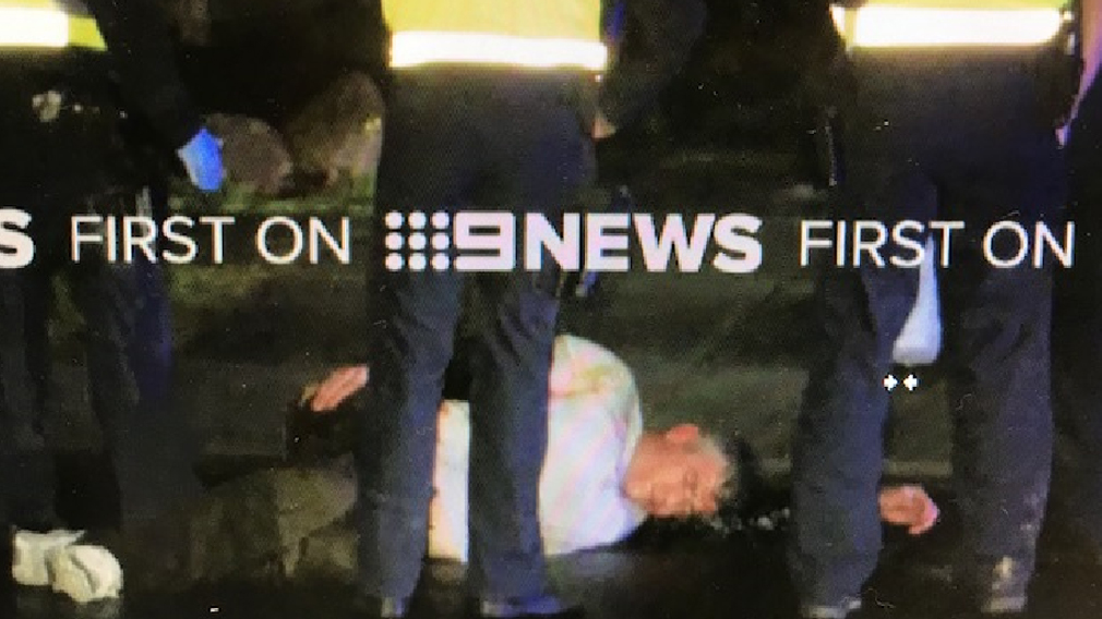 A 39-year-old man was arrested at the scene. (9NEWS)