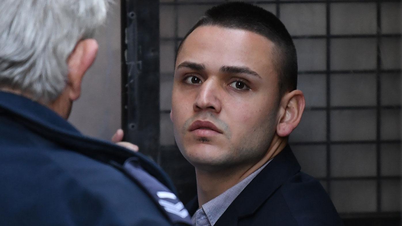 Jake Tortell faced a sentence hearing for the stabbing murder of Gwar George Garmo (AAP Image/David Moir).