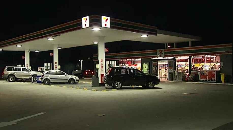 The teens allegedly stormed the service station in the early hours of the morning. (9NEWS)