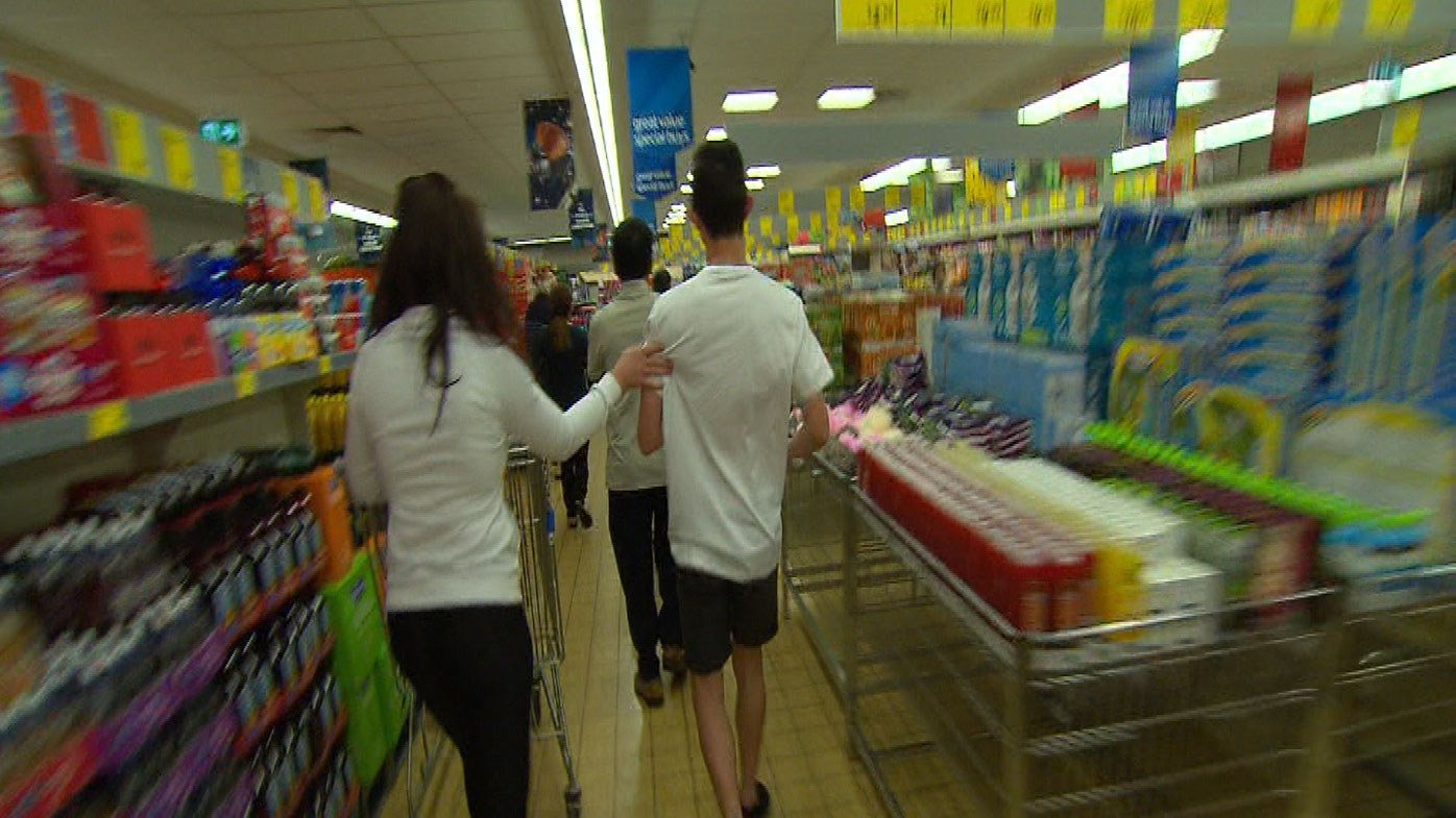 People race through the store to find the discounted items.