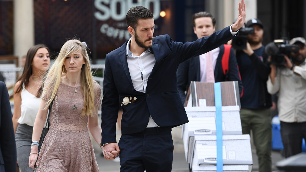 Charlie Gard's parents, Connie Yates and Chris Gard, have abandoned their legal fight to take their sick son to the US for treatment. (AFP)