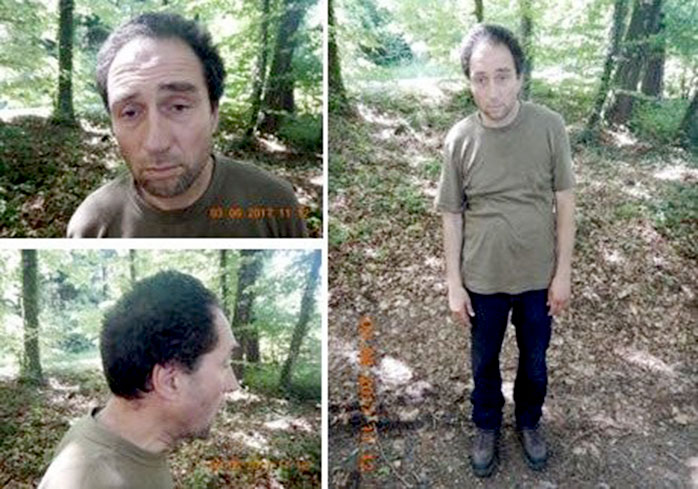 An image released by Swiss Police shows the unnamed suspect in a chainsaw attack in Schaffhausen, Switzerland.