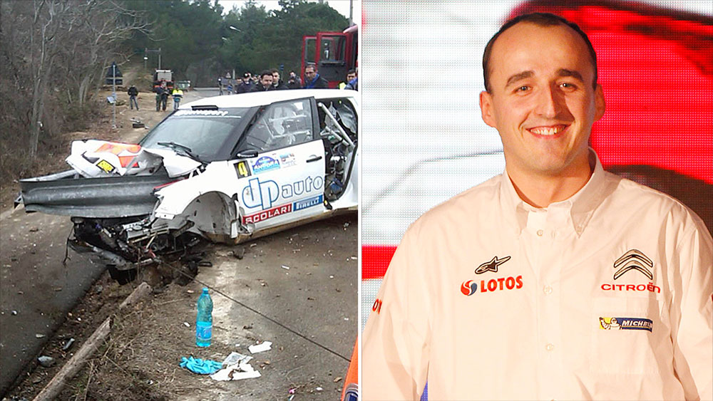 Robert Kubica and the rally accident that nearly claimed his life. (AAP)