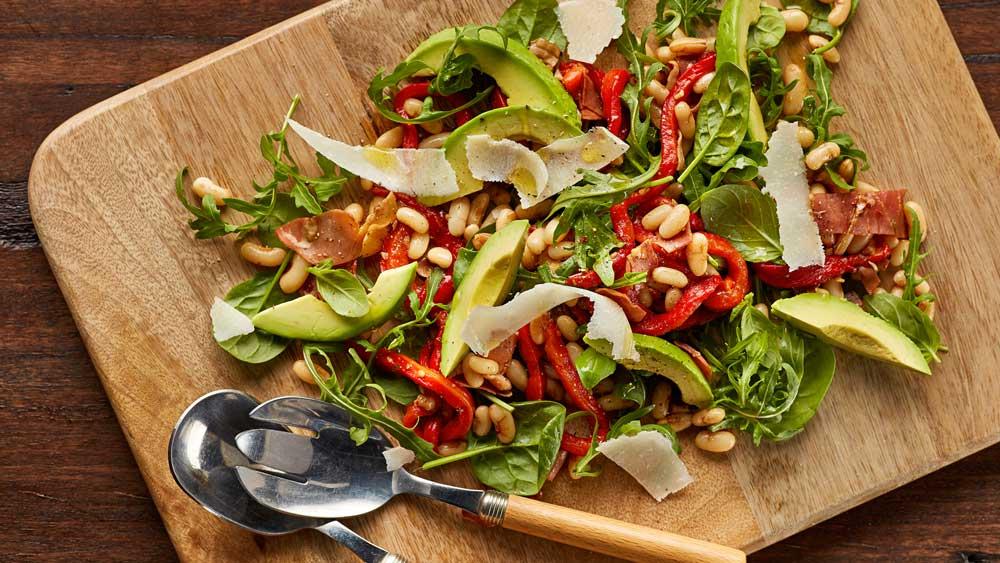 Warm white bean and prosciutto salad recipe