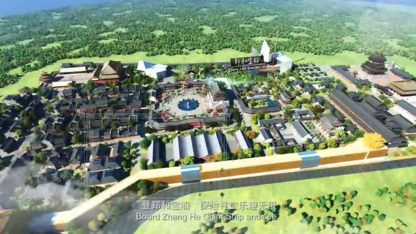 The proposed Chappypie China Time theme park.