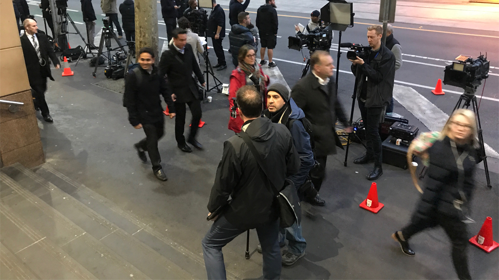 Cardinal Pell court appearance attracts unprecedented media attention