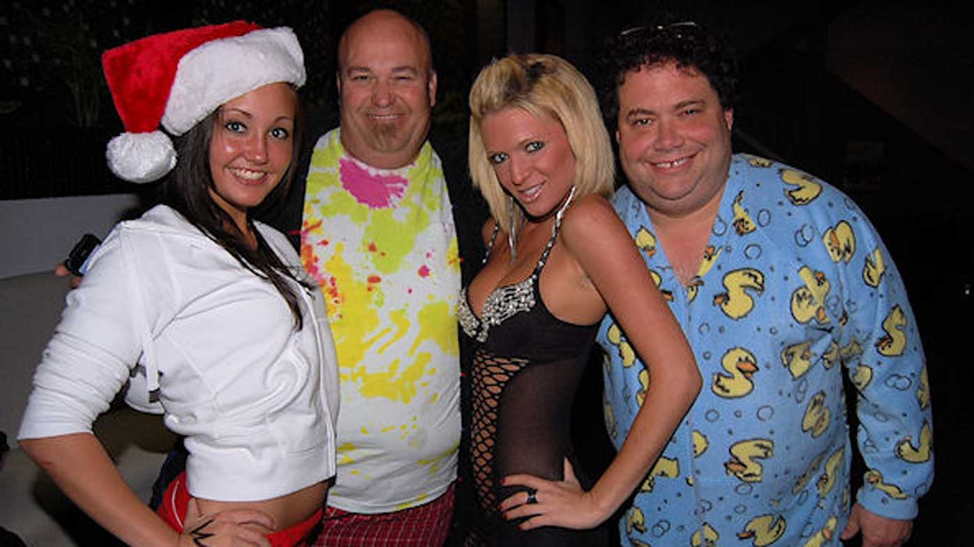 Representative Blake Farenthold (far right) at a party.