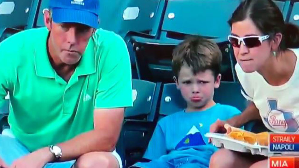 Trip to the baseball ends in tears for young fan