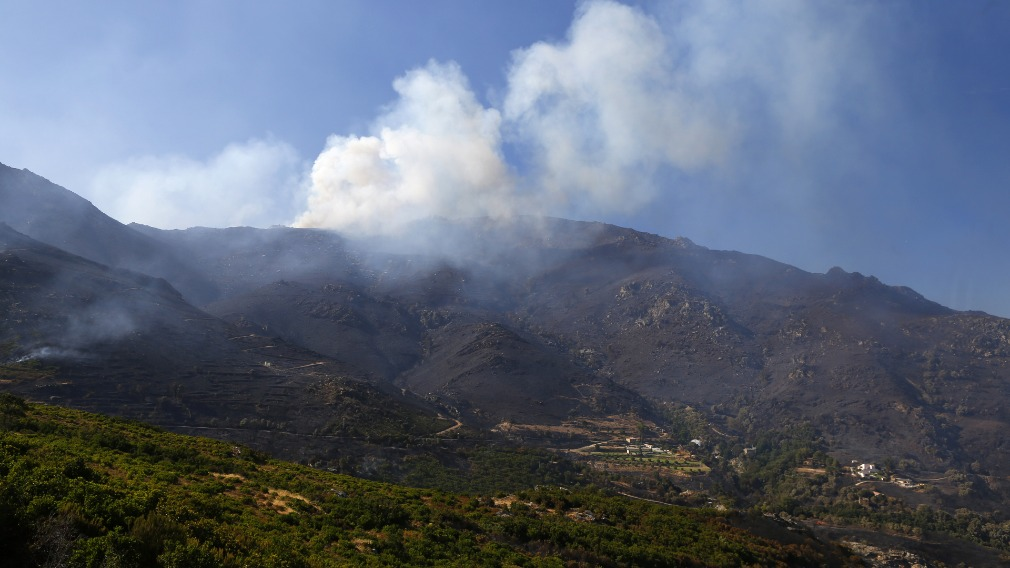 The fires were sparked on Monday. (AFP)