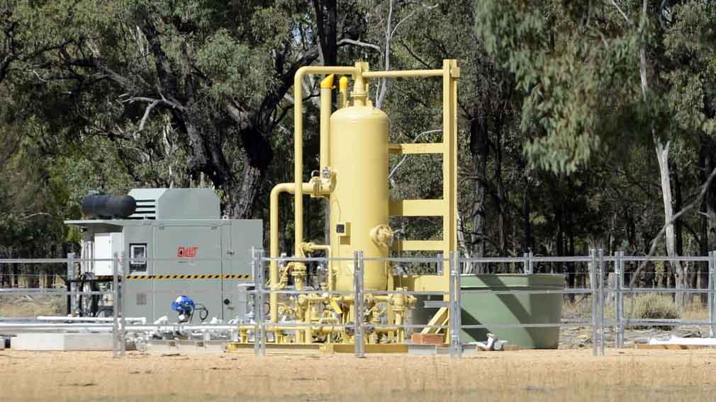 A coal seam gas well. (AAP)
