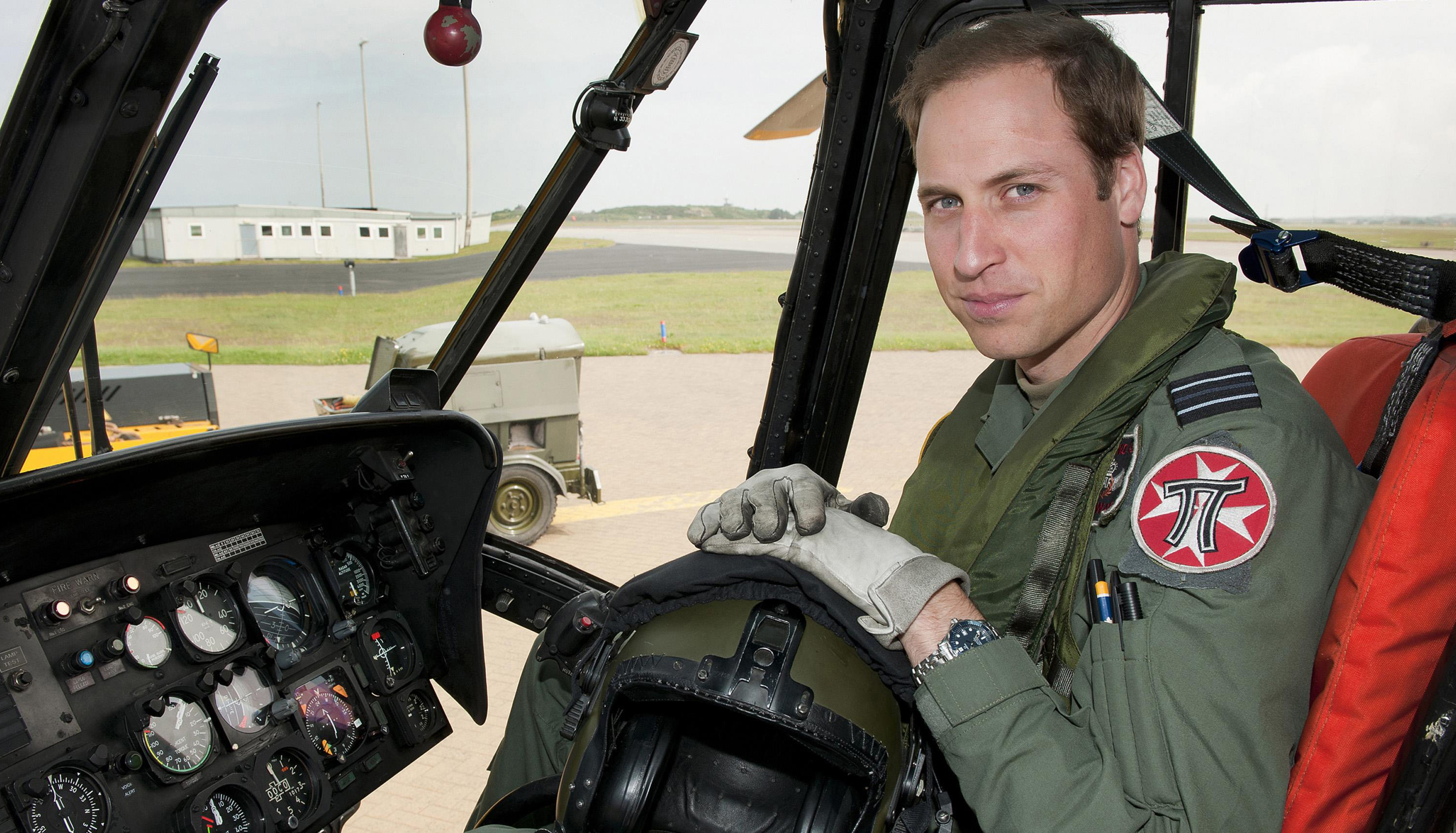 William's final day as pilot before Royal challenge