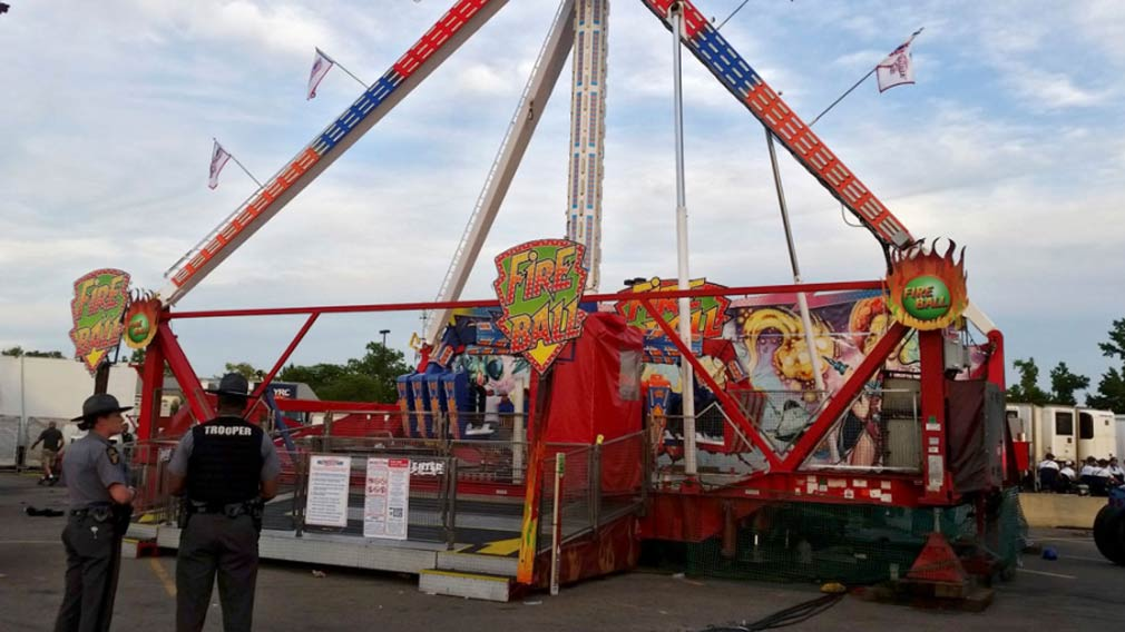The Fire Ball ride.