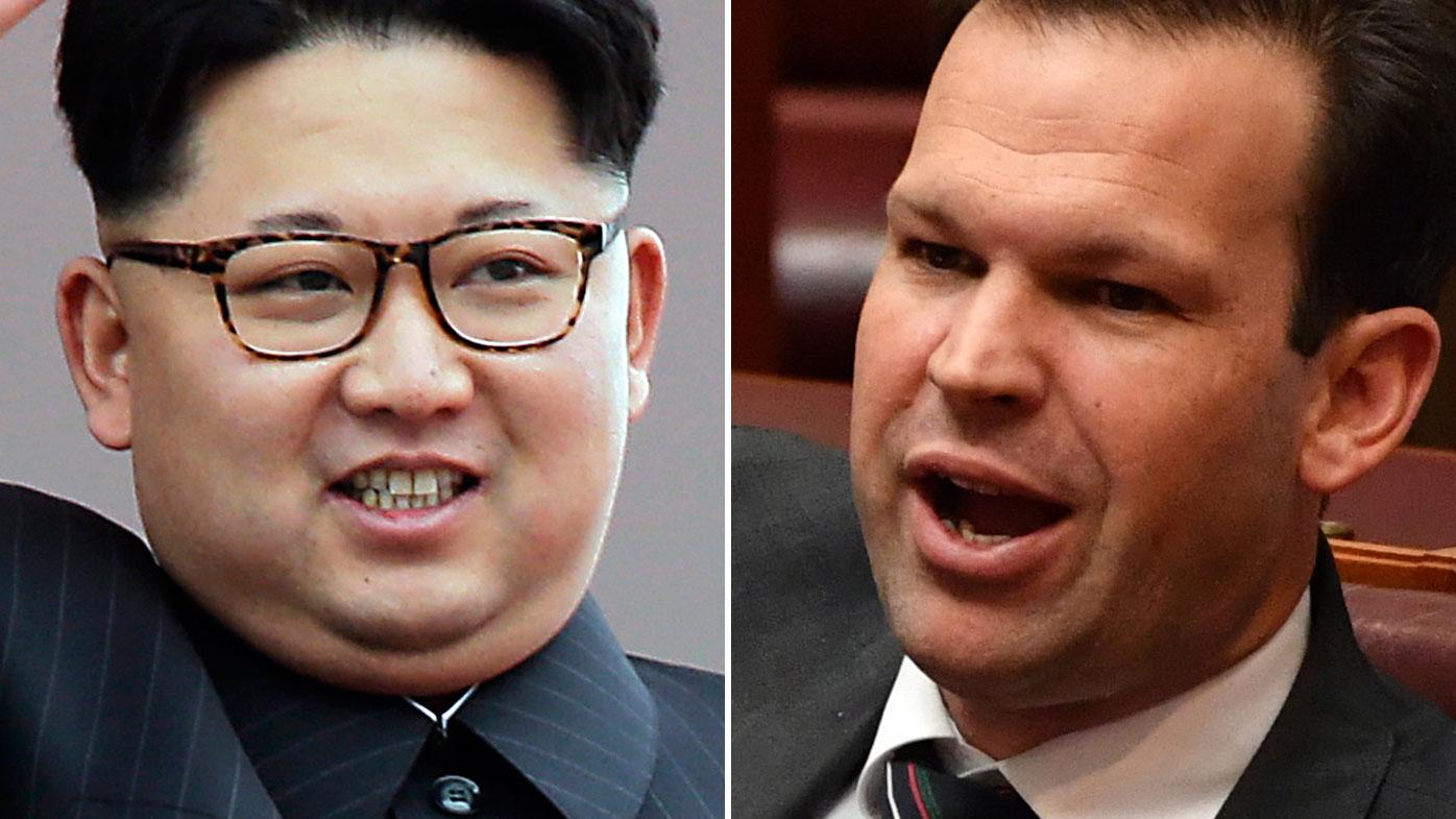 Kim Jong-Un and Matt Canavan. (AAP)