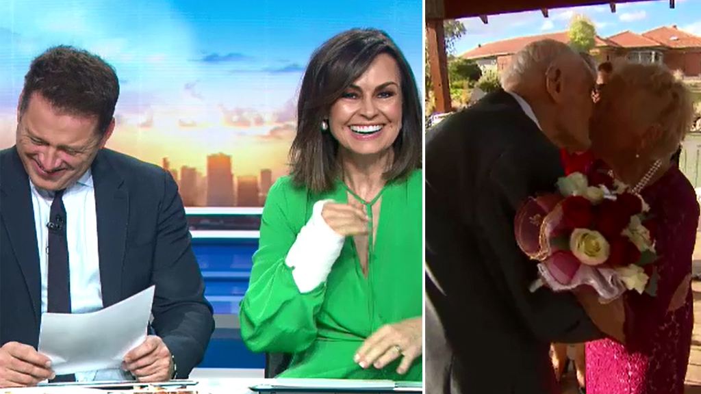 Karl and Lisa giggle over 93-year-old's raunchy joke
