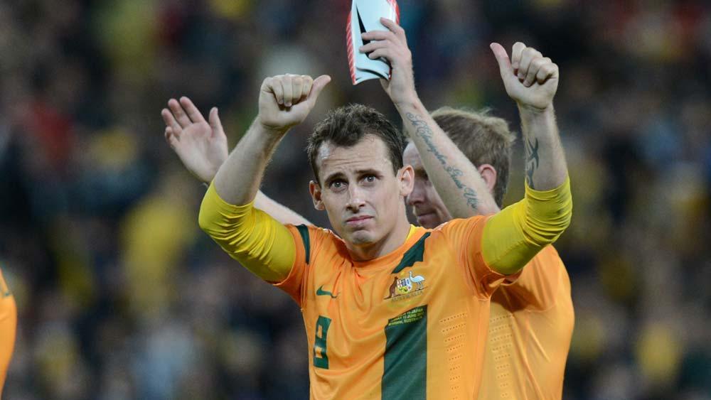 Luke Wilkshire of the Socceroos