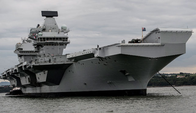 HMS Queen Elizabeth is the largest and costliest ship to ever serve in the UK Royal Navy. (Supplied).