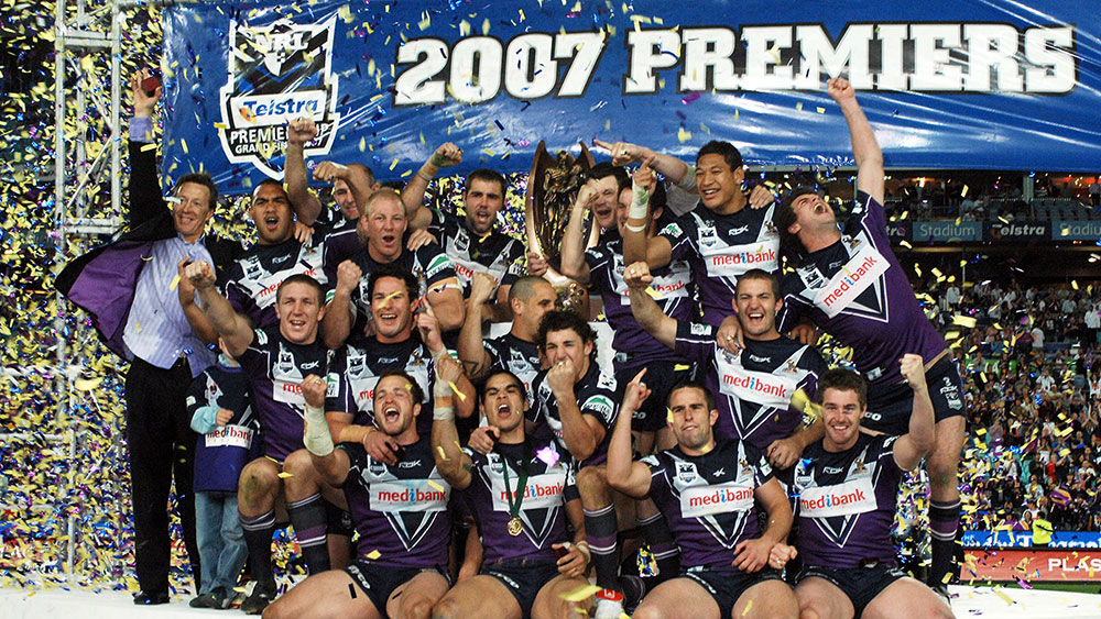 Melbourne Storm players gather to mark 10 years since 2007 NRL premiership