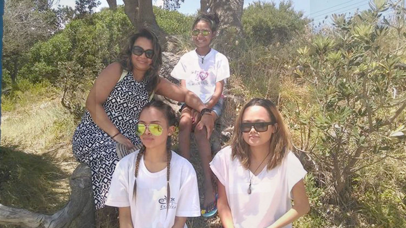 Annick Sookharee with her daughters.