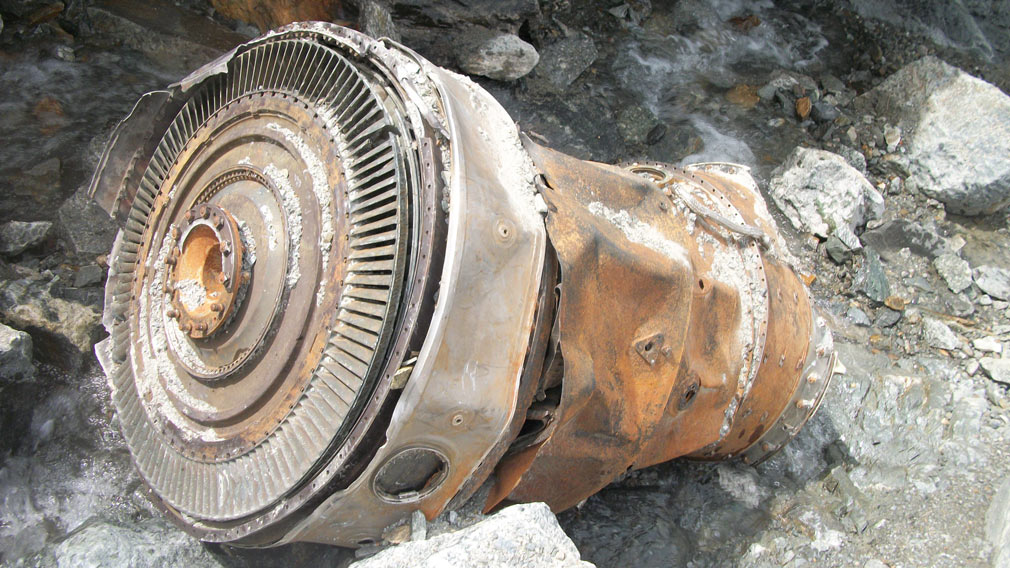 aircraft debris, which could be from one of two Air India crashes which occurred in 1950 and 1966. (AFP)