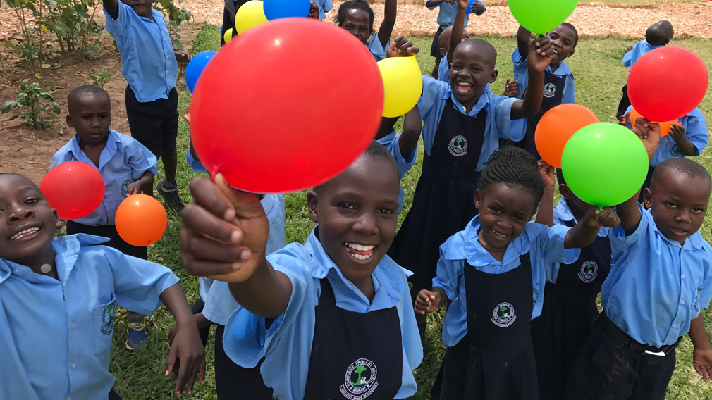 Ugandan children from the School For Life. (9NEWS)