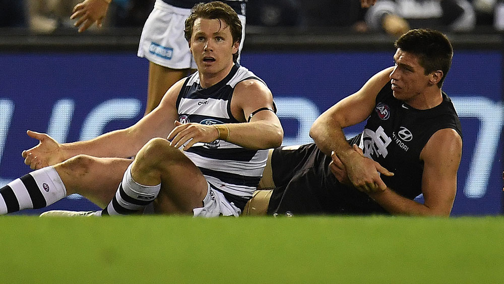Patrick Dangerfield's tilt at consecutive Brownlow Medals in tatters after being hit with ban
